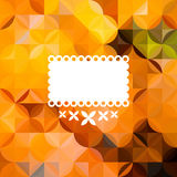 Colorful abstract triangular orange pattern Stock Photography