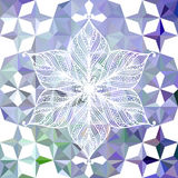 Colorful abstract triangular pattern with flower Stock Photo