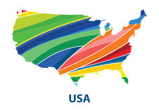 Colorful abstract usa map vector. Stock Photography