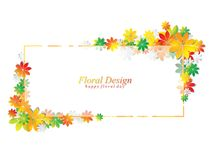 Colorful leaves abstract vector design Royalty Free Stock Photography