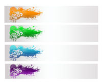 Colorful Abstract  Vector Banner Stock Images
