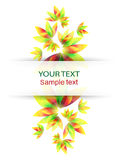 Colorful abstract vector banner. With colorful flowers and leaves Stock Photos