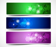 Colorful Abstract Vector Banner Stock Image