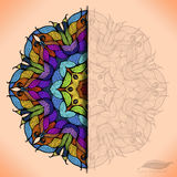 Colorful abstract vector circular lace. Stock Photography