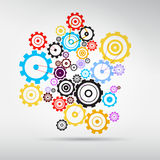 Colorful Abstract vector cogs - gears Royalty Free Stock Photography