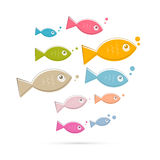 Colorful Abstract Vector Fish Illustration Royalty Free Stock Images