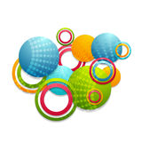 Colorful abstract vector rings and circles Stock Image