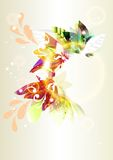 Colorful abstract vector shiny background or frame. Background with abstract colorful frame for your design. Floral vector Stock Image