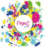 Colorful abstract vector splatter paint vector illustration
