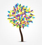 Colorful Abstract Vector Tree illustration. Abstract design Royalty Free Stock Photos