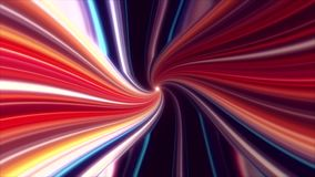 Colorful abstract vortex warp loopable motion graphic background royalty free illustration