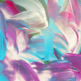 Colorful abstract watercolor acrylic painting. Brush strokes royalty free illustration