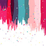 Colorful abstract watercolor brush background, vector template Royalty Free Stock Image