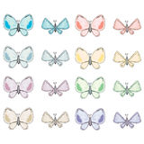 Colorful abstract watercolor butterfly collection Royalty Free Stock Image