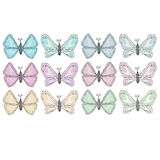 Colorful abstract watercolor butterfly collection Royalty Free Stock Photos