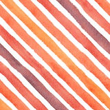 Colorful abstract watercolor diagonal strokes seamless pattern. Hand drawn abstract watercolor diagonal strokes seamless pattern on the white background Royalty Free Stock Photography