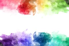 Colorful watercolor drawing Royalty Free Stock Photo