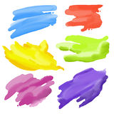 Colorful Abstract Watercolor elements for design Stock Photos