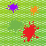 Colorful abstract watercolor on green backgrounds  Stock Images