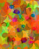 Colorful abstract watercolor painting mosaic  background Royalty Free Stock Image