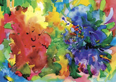 Colorful abstract watercolor texture Royalty Free Stock Photo