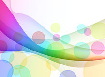 Colorful Abstract Wave Background Stock Images