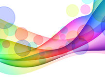 Colorful Abstract Wave Background Stock Photography