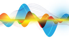 Colorful abstract wave stock illustration