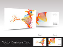 Colorful abstract wave background vector business. Card with presentation Royalty Free Stock Photos