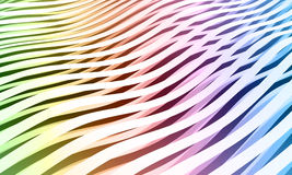Colorful abstract wave stripes background. Digital 3d illustration Royalty Free Stock Photography