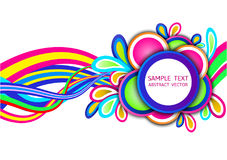 Colorful abstract wave vector background Royalty Free Stock Images