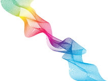 Colorful abstract waved lines with colors of the rainbow. Stock Images
