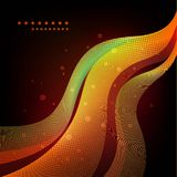 Colorful abstract waves on black background. Place for text. EPS-10 and High resolution Jpg Stock Image