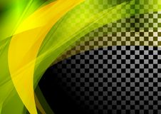 Colorful abstract waves on checkered background Royalty Free Stock Photo