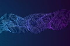 Abstract background with dynamic linear waves. Stylized lines element for design. Colorful abstract waves vector backgroud. Digital frequency track equalizer Stock Photos