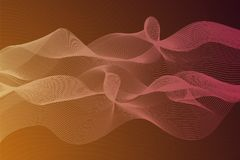 Abstract background with dynamic linear waves. Stylized lines element for design. Colorful abstract waves vector backgroud. Digital frequency track equalizer Royalty Free Stock Images