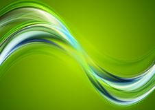 Colorful abstract wavy background Stock Photo