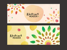 Colorful abstract web header or banner set. Royalty Free Stock Image