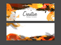 Colorful abstract web header or banner set. Stock Photography