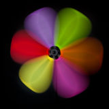 Colorful abstract windmill Stock Photography
