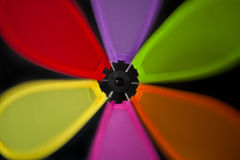 Colorful abstract windmill Royalty Free Stock Images