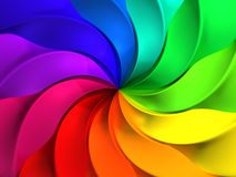 Colorful abstract windmill pattern background. 3d illustration Stock Photography