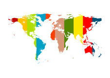 Colorful abstract world map background Stock Images