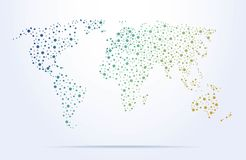Colorful abstract world map with dots stock illustration colorful abstract world map with dots royalty free stock image gumiabroncs Gallery