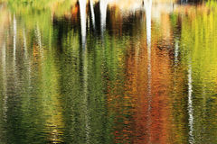 Colorful abstraction autumn. Water mirror Stock Photo