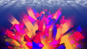Colorful abstraction underwater. 4K, seamless loop. 3D animation, seamless loop UHD stock video