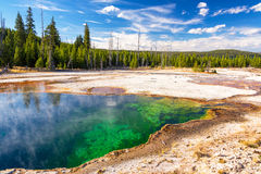 Colorful Abyss Pool. In the West Thumb Geyser Basin in Yellowstone National Park royalty free stock image