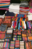 Colorful accesories in Market in Mexico Royalty Free Stock Photos