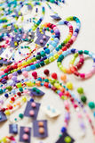 Colorful accessoires at jewelry Royalty Free Stock Photo
