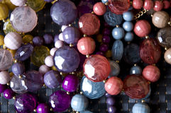 Colorful accessories. A lot of colorful bead accessories Stock Photos